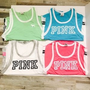 PINK Victoria Secret tank tops. Bundle of 4